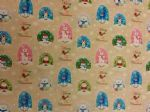 SNOW GLOBE - Christmas material Polar Bear Penguin Santa - Fabric - Price Per Metre